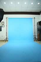 Голубой фон Бумажный в рулоне 11м Х 2,72м от Kelly Photo США, фото 3