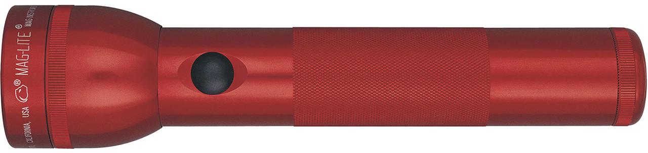 Фонарь MAGLITE 2D (27 Lum)(10627cd)(206м)(8ч30м)(красный)(в коробке) R34347