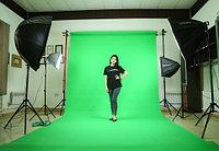 Зелёный фон Бумажный в рулоне 11м Х 2,72м от Kelly Photo США