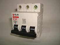 Автоматический выключатель 3Р 10А ВА 47-63  (С) ELS