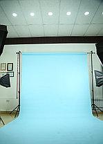 Небесно-голубой фон Бумажный в рулоне 11м Х 2,72м от Kelly Photo США, фото 2