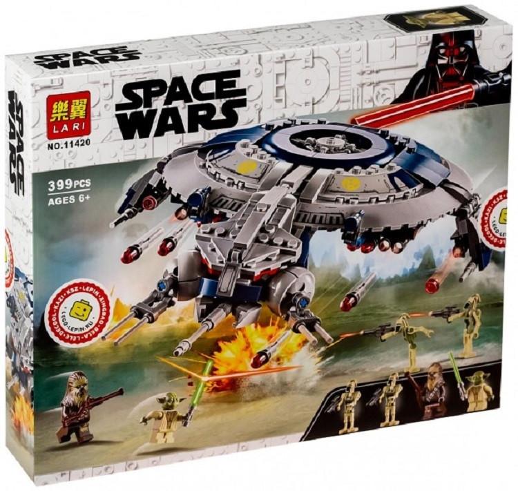 Lari Space Wars 11420 Конструктор Дроид-истребитель, 399 деталей (Аналог LEGO 75233)