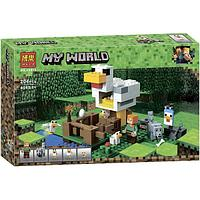 Bela My World 10809 Конструктор Майнкрафт Курятник, 204 детали (Аналог LEGO)
