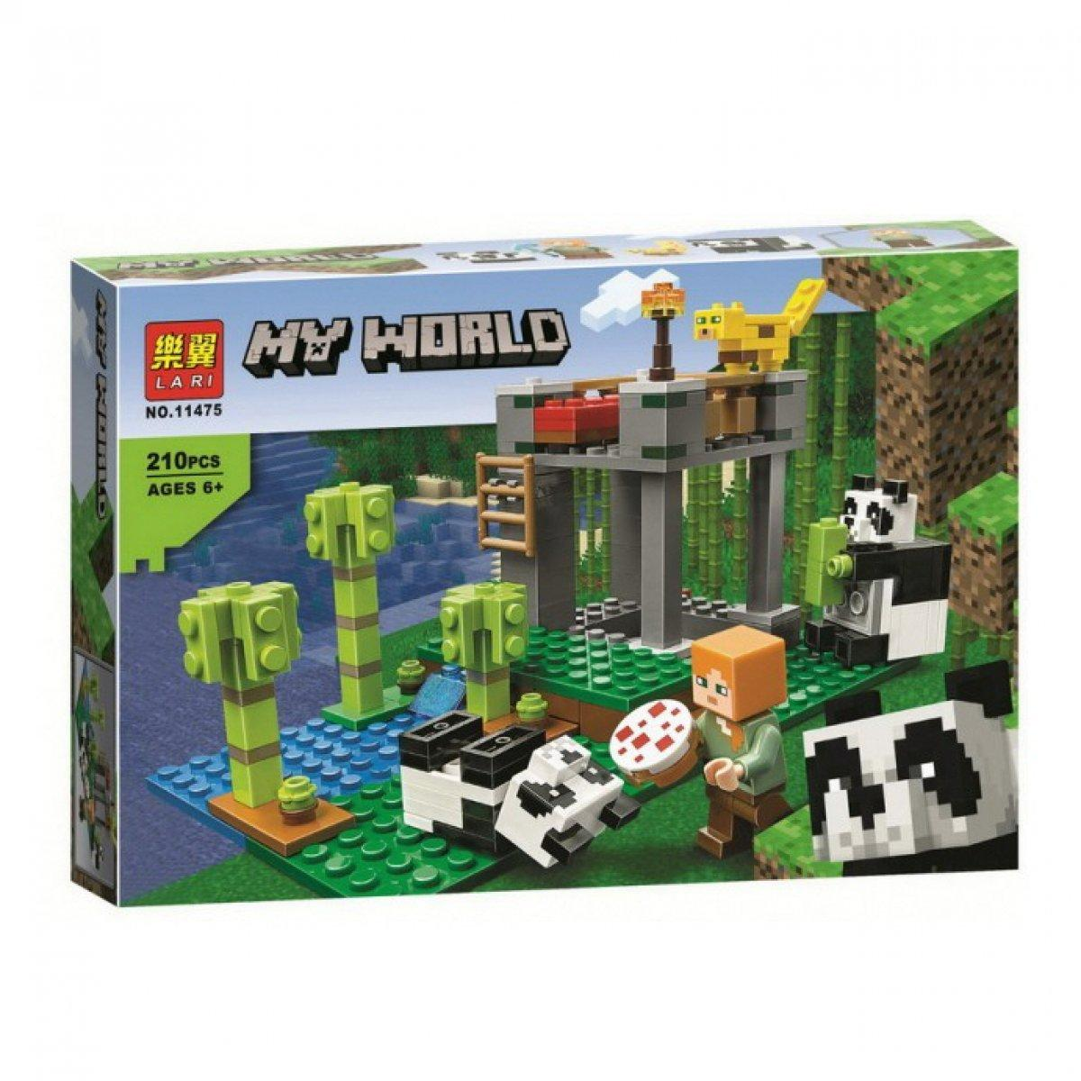 Lari My World 11475 Конструктор Майнкрафт Питомник панд, 210 деталей (Аналог LEGO 21158)