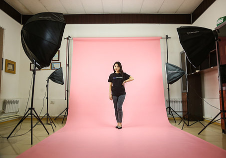 Розовый фон Бумажный в рулоне 11м Х 2,72м от Kelly Photo США, фото 2