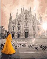"Картина по номерам ""Девушка у собора в Милане"" 40х50 см"