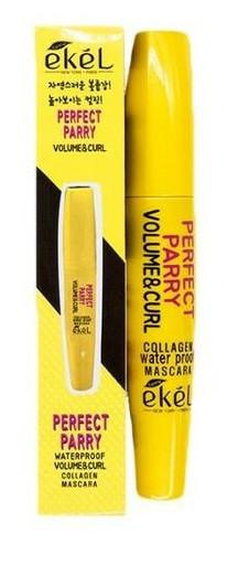 «Ekel» Mascara Collagen Red Тушь для ресниц Чёрная Объем и Подкручивание, 12 гр.