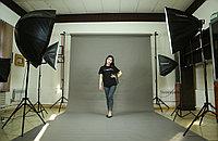 Серый фон Бумажный в рулоне 11м Х 2,72м от Kelly Photo США