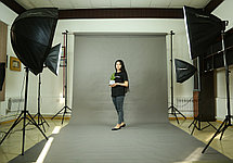 Серый фон Бумажный в рулоне 11м Х 2,72м от Kelly Photo США, фото 2