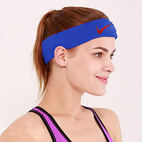 Спортивная повязка на голову синяя