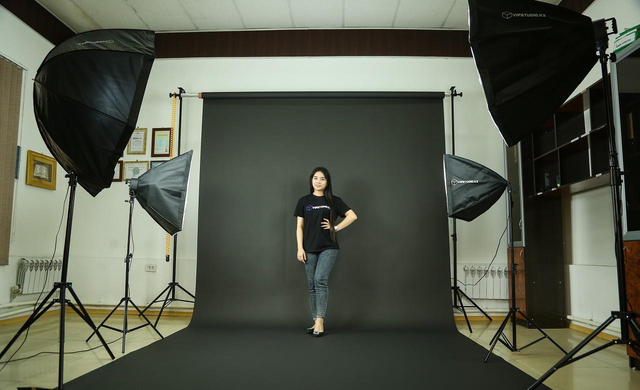 Чёрный фон Бумажный в рулоне 11м Х 2,72м от Kelly Photo США