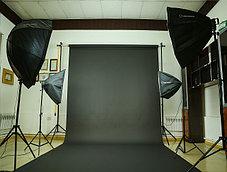 Чёрный фон Бумажный в рулоне 11м Х 2,72м от Kelly Photo США, фото 3