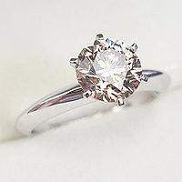 Золотое кольцо с бриллиантом 1.50Сt SI1/C1 EX-Cut (Cognac Diamond)