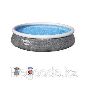 Надувной бассейн Bestway 57376 с фильтр-насосом 396х84 см, фото 2
