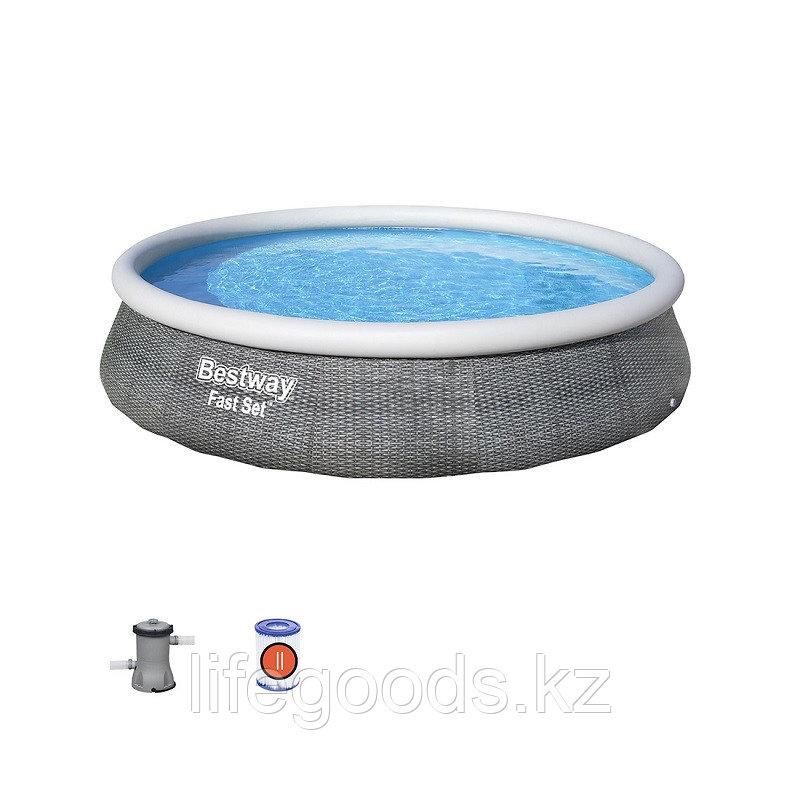 Надувной бассейн Bestway 57376 с фильтр-насосом 396х84 см - фото 2