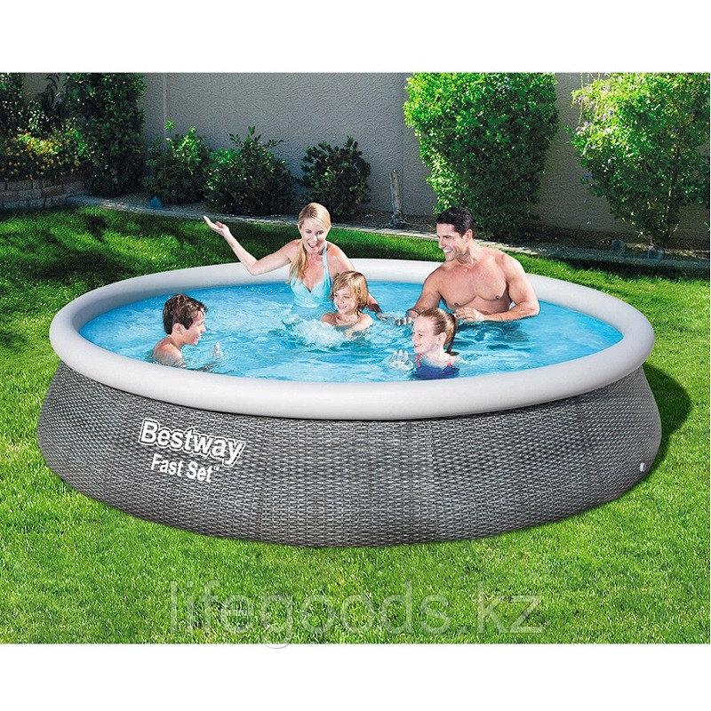 Надувной бассейн Bestway 57376 с фильтр-насосом 396х84 см - фото 1