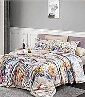 Комплект постельного белья двуспальный KENZO сатин LUX с цветочным рисунком