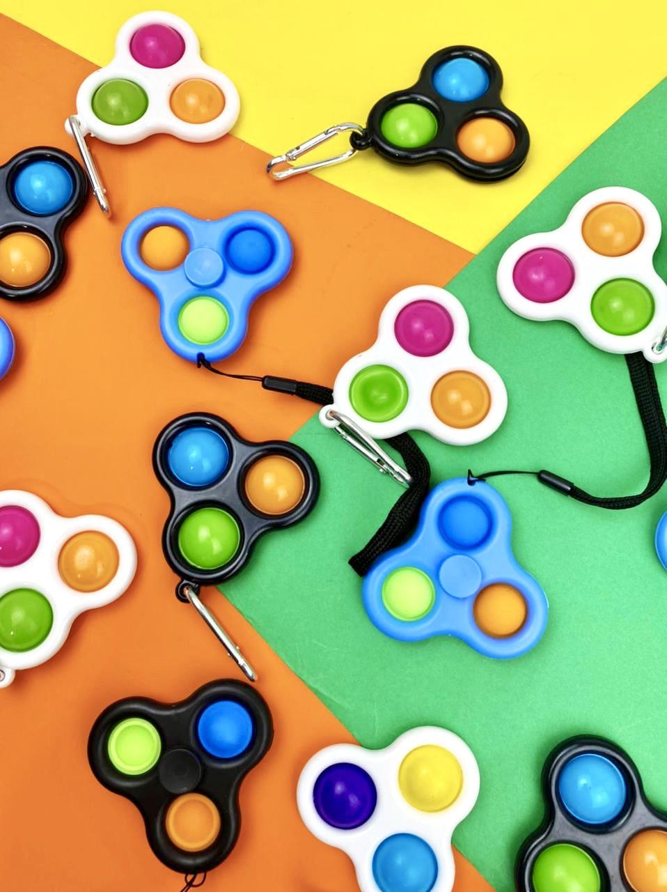 Симпл димпл simple dimple Брелок спинер попит антистресс pop it spinner - фото 1