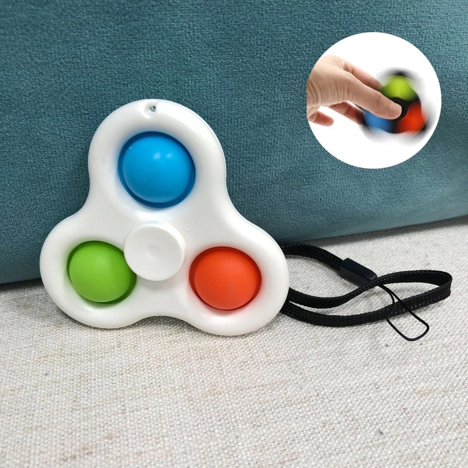 Симпл димпл simple dimple Брелок спинер попит антистресс pop it spinner - фото 3