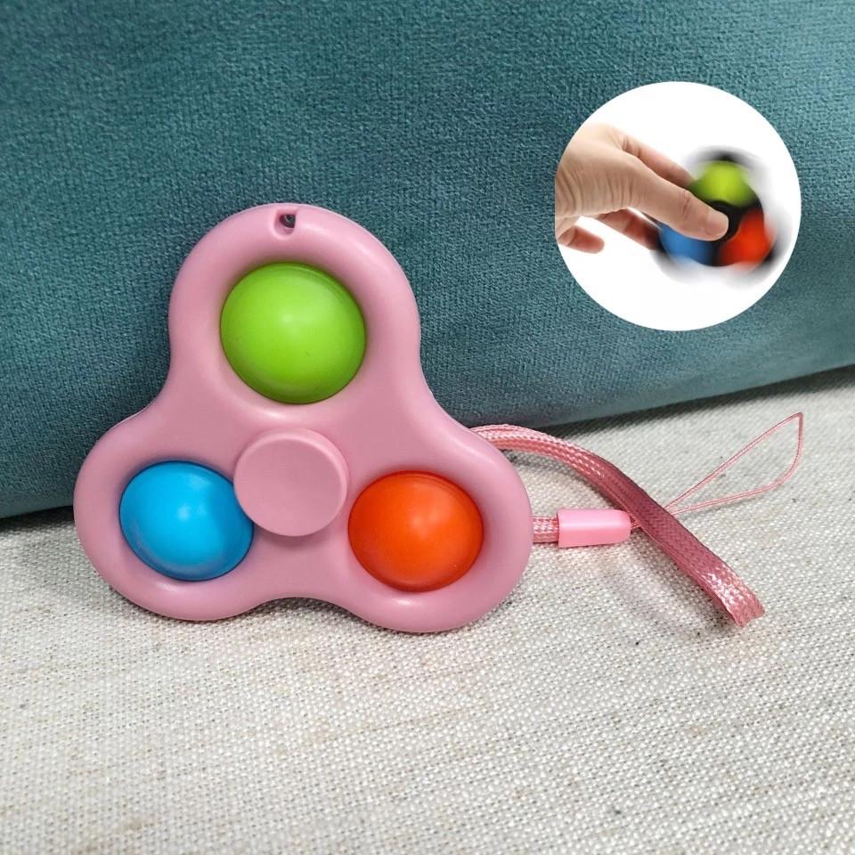 Симпл димпл simple dimple Брелок спинер попит антистресс pop it spinner - фото 4