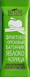 Батончик BioElite. Яблоко корица. Без упаковки