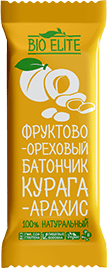Батончик BioElite Курага-арахис. Без упаковки