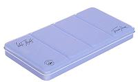Пенал для акварели на 35 кювет с палитрой, металл, светло-голубой.