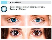 Цветные линзы DOX (K2010 Blue) от 0.00 до -5.00