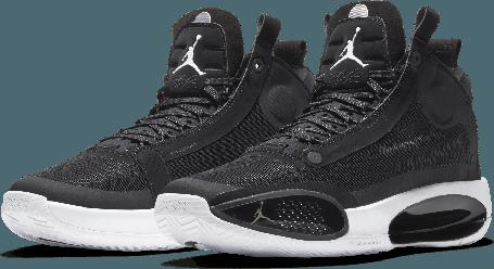 "Баскетбольные кроссовки Air Jordan 34 (XXXIV) ""Black\White"" (40-46), фото 2"