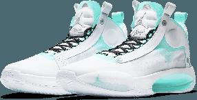 "Баскетбольные кроссовки Air Jordan 34 (XXXIV) ""White\Green"" (40-46)"