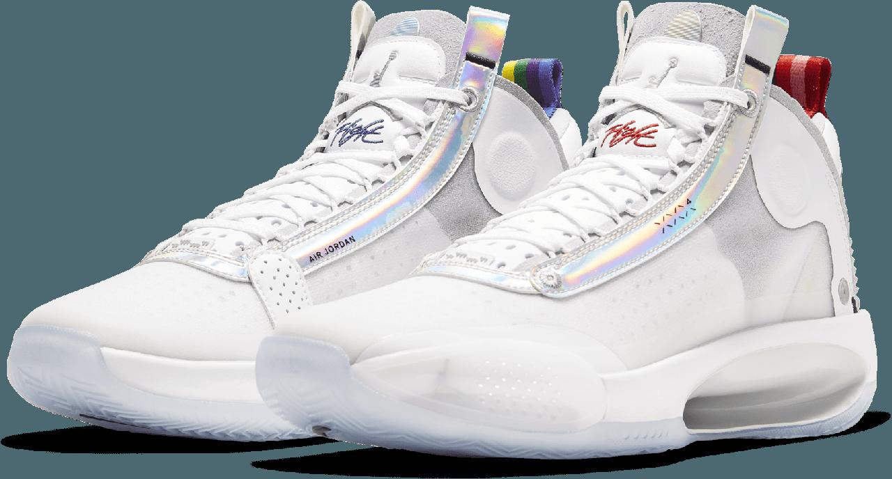 "Баскетбольные кроссовки Air Jordan 34 (XXXIV) ""White\Gold"" (40-46)"