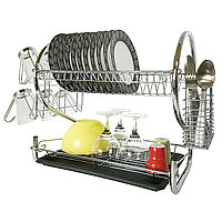 Tatkraft Helga двухуровневая хромированная сушилка для посуды 10857