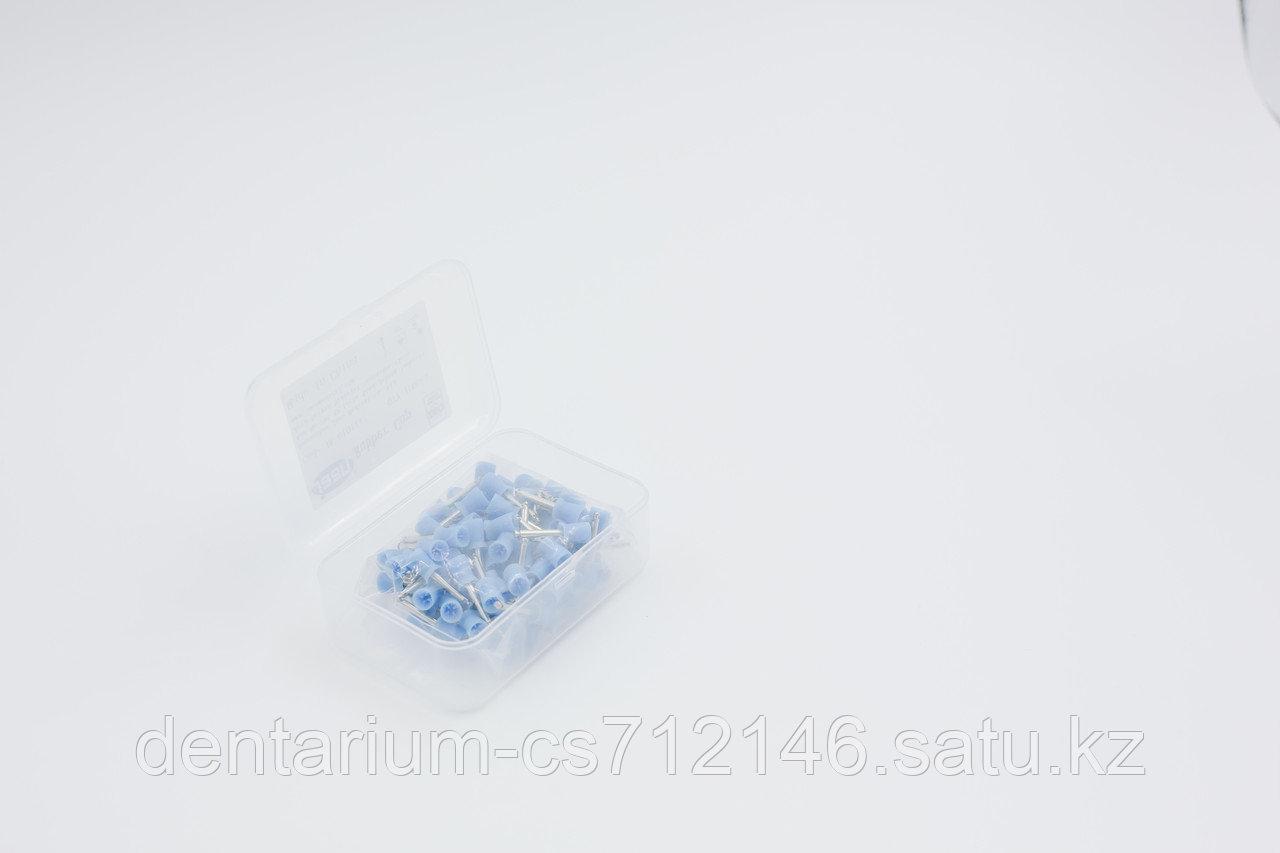 Полировочные резинки синие мягкие - фото 2