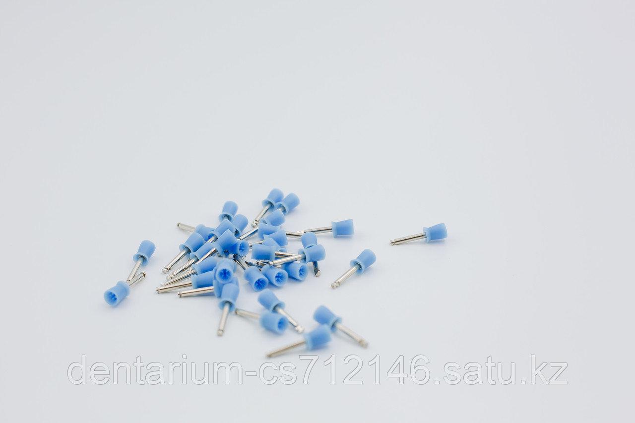 Полировочные резинки синие мягкие - фото 1