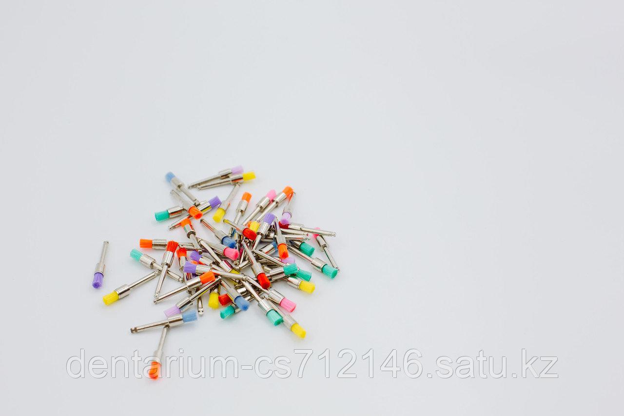 Щетки для полировки цветные стандарт , в уп 100 - фото 1