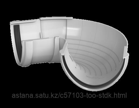 Угол желоба регулируемый 90°-150° ТН ПВХ, белый