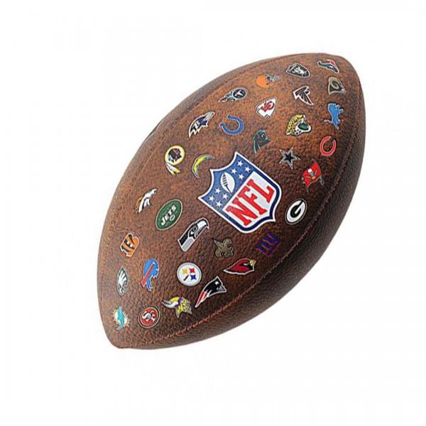 Wilson  мяч для американского футбола NFL Off Throwback 32 Team Logo