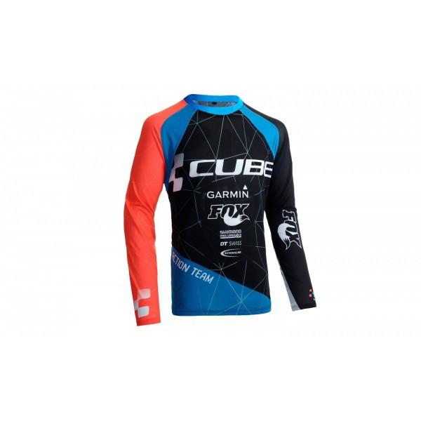 Cube  джерси мужское  с дл.рукавом Action Team