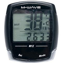 "Велокомпьютер провод. M-WAVE ""M12"", 12 functions"