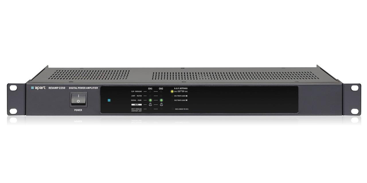 2-x канальный цифровой усилитель мощности 2х250Вт RMS 4Ом, (2х350Вт Dynamic 4Ом), бридж 1х500Вт RMS