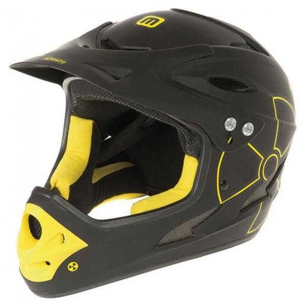 Шлем M-IGHTY full face helmet, size L (57-61 cm), matt black/yellow