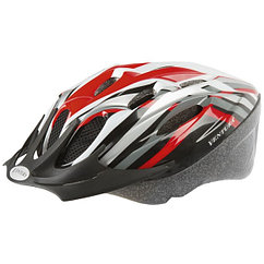 Шлем Ventura helmet for adults, size: L, 58-62 cm, red/black/white/silver