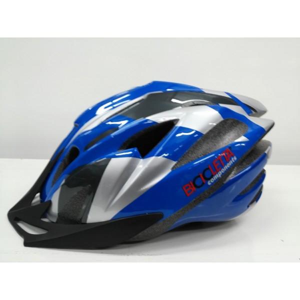 Шлем BICICLETTA helmet M: 54-58, blue/white/silver