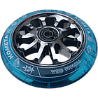 Колесо на трюковой самокат Комета Гиперскачок (Прозр.синий / Серый), фото 2