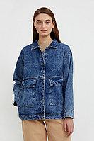 Джинсовая куртка с накладными карманами Finn Flare, цвет синий, размер L