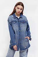 Куртка-рубашка из денима Finn Flare, цвет голубой, размер L