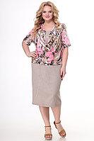 Женское летнее трикотажное большого размера платье Algranda by Новелла Шарм А3514-3 66р.