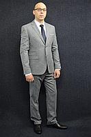 Мужской осенний серый деловой большого размера костюм DOMINION 4482D/5176D 1C28-P49 176 Светло-серый 44р.