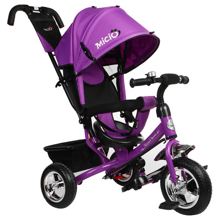 """Велосипед трёхколёсный Micio Classic, колёса EVA 10""""/8"""", цвет фиолетовый"""