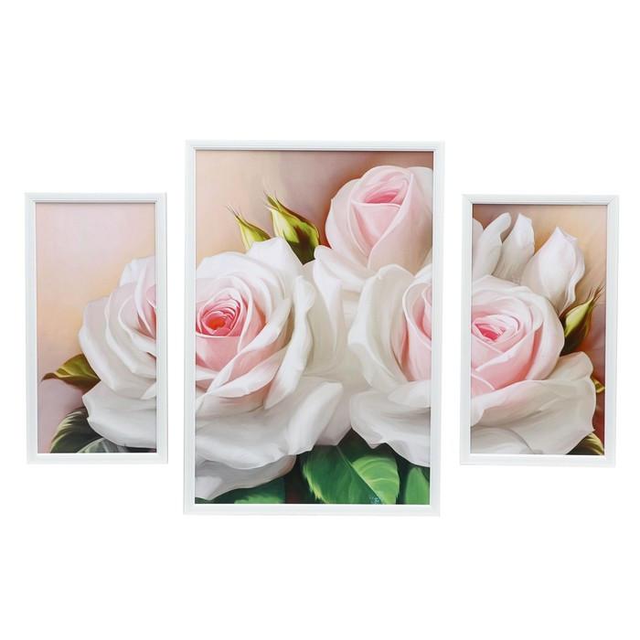 "Модульная картина ""Розы"" 78х53см (35х53; 20х38; 22х38)"